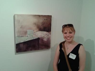 Anna Shukeylo, Fontanka 99 (Midnight Milk), Acrylic on canvas