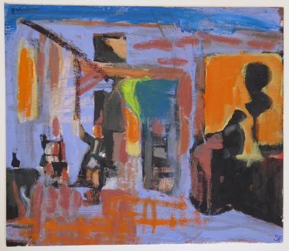 Intrepretation from De Hooch The Bedroom-10.25x12in-2015-OilOnPaper (1)