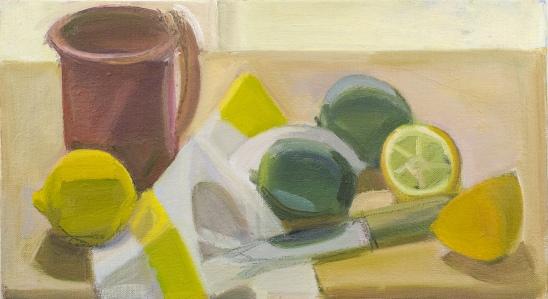 Kotula, Pink Cup with Cut Lemon and Limes, o-c, 8-x14