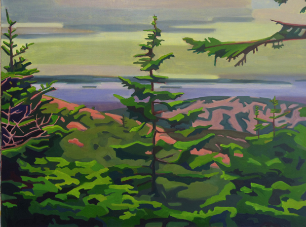 2 -View from Cadillac Mountain (MT Desert Island)-2016-oil on canvas- 30x40