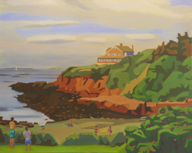 5- Ocean Point Boothbay-2016-oil on canvas - 32x40