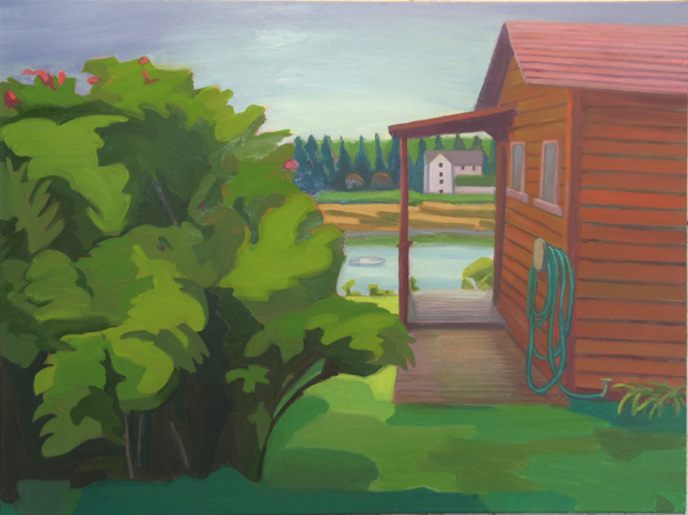 6- Cabin Boothbay-2014-oil on canvas-30x40
