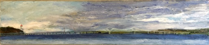 cabouli_Tappan Zee Bride-Passing Clouds_Oil_2016